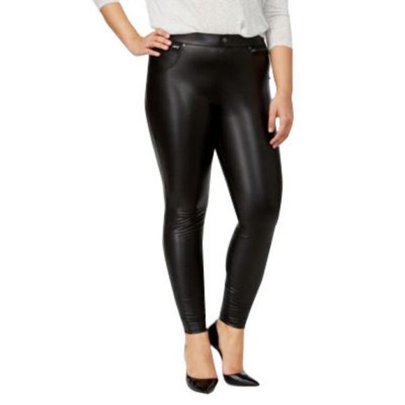 a051ca7a5a9c3 HUE Pants | Womens Plus Size 2x Faux Leather Leggings | Poshmark